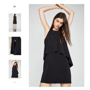 NWOT BCBGeneration Black Overlay Dress Sz L